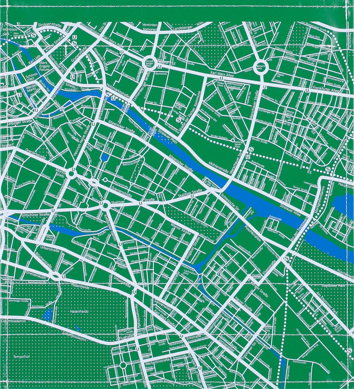 Stadtplan grün (mittel)