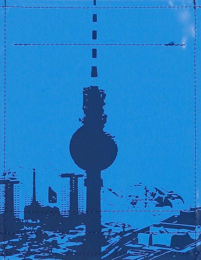 Stadtsilhouette Berlin mittelblau/dkl.blau (klein)