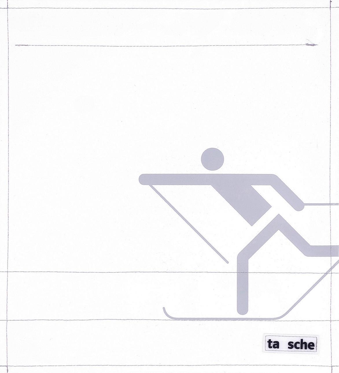 Skifahrer weiß/hellgrau (mittel)