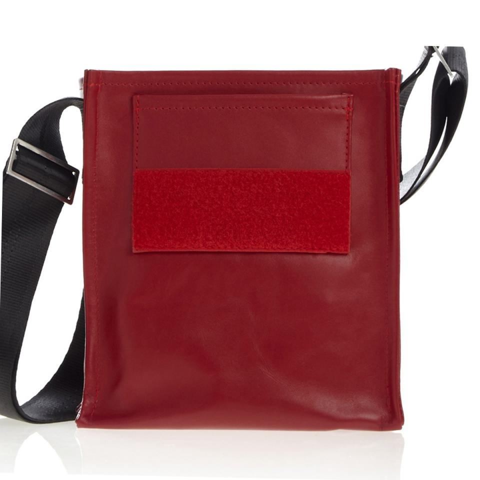 Forscherin red LEATHER