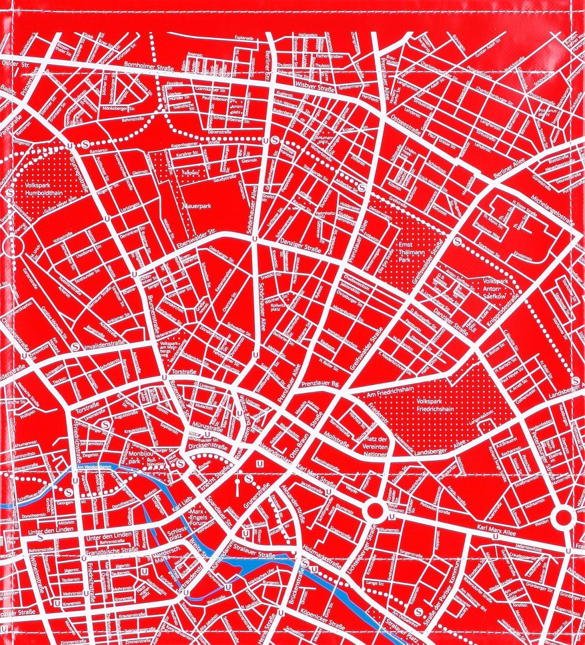Stadtplan rot (mittel)