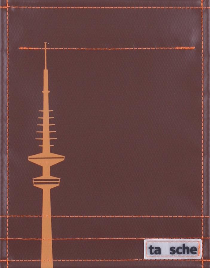 Hamburg Fernsehturm braun/orange (klein)