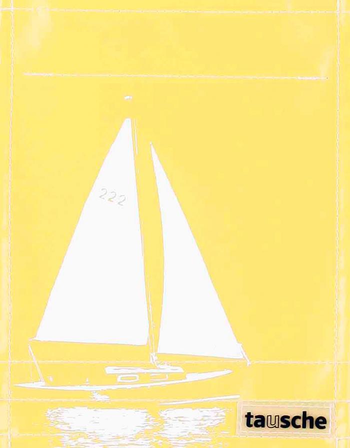 Segelboot gelb (klein)