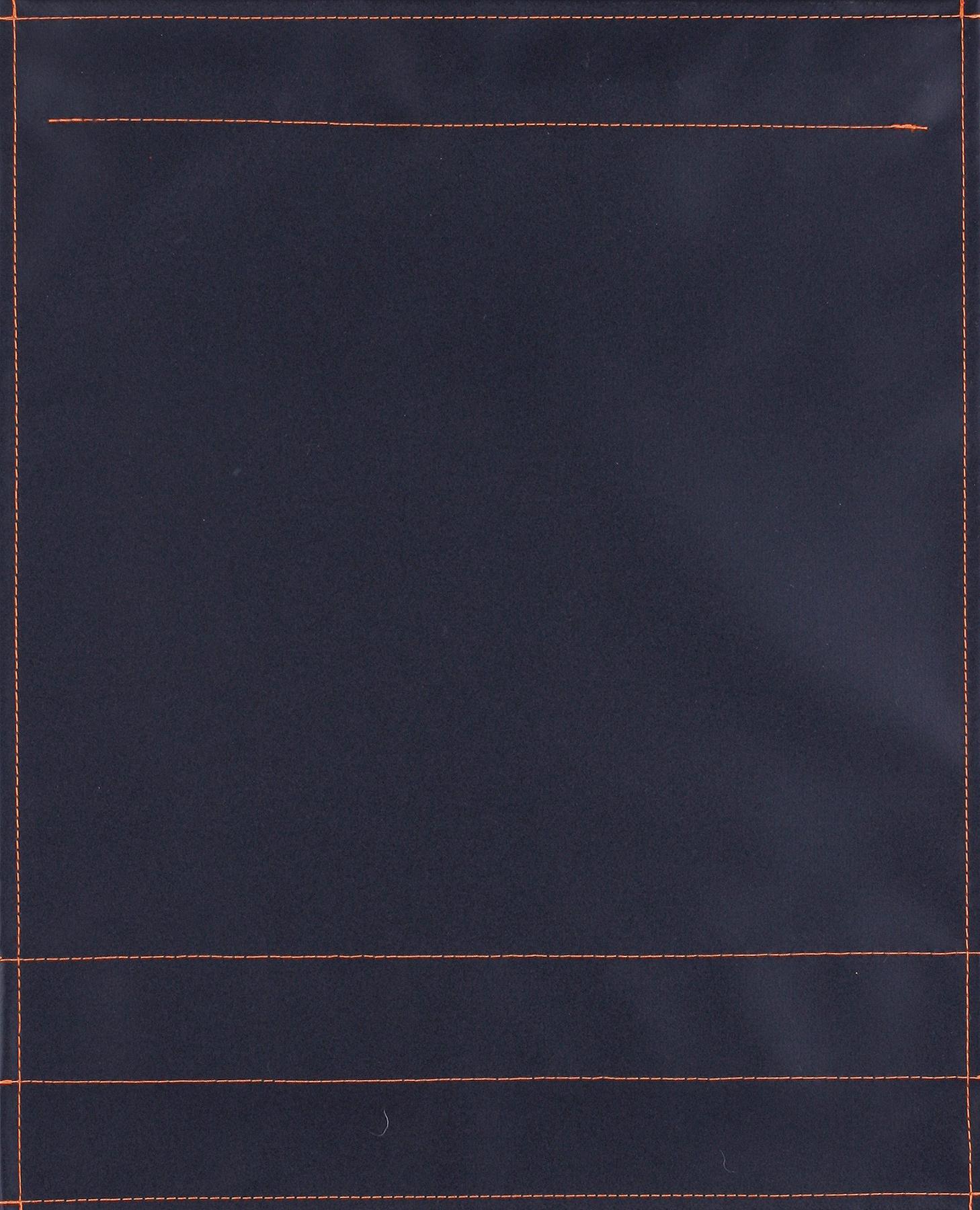 pur schwarz matt - Naht orange (groß)