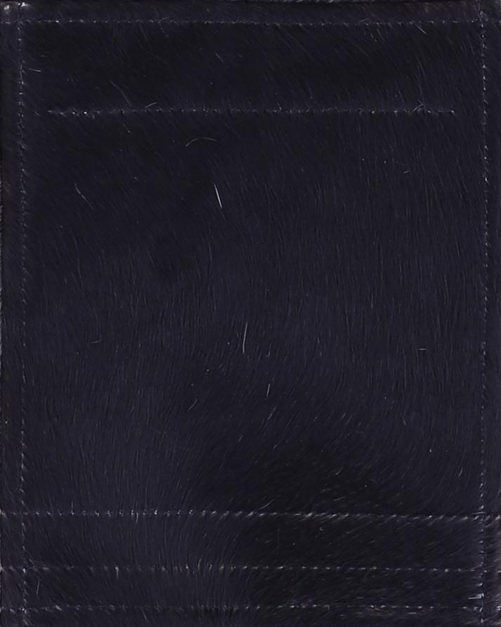 Leder Kuhfell schwarz (klein)