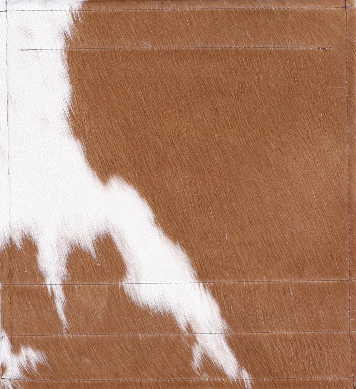 Leder Kuhfell braun/weiß (mittel)