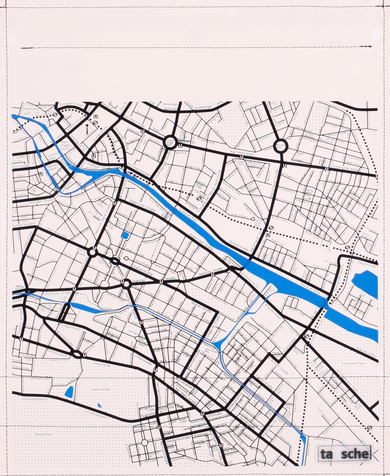 Stadtplan Ost elfenbein/schwarz (groß)