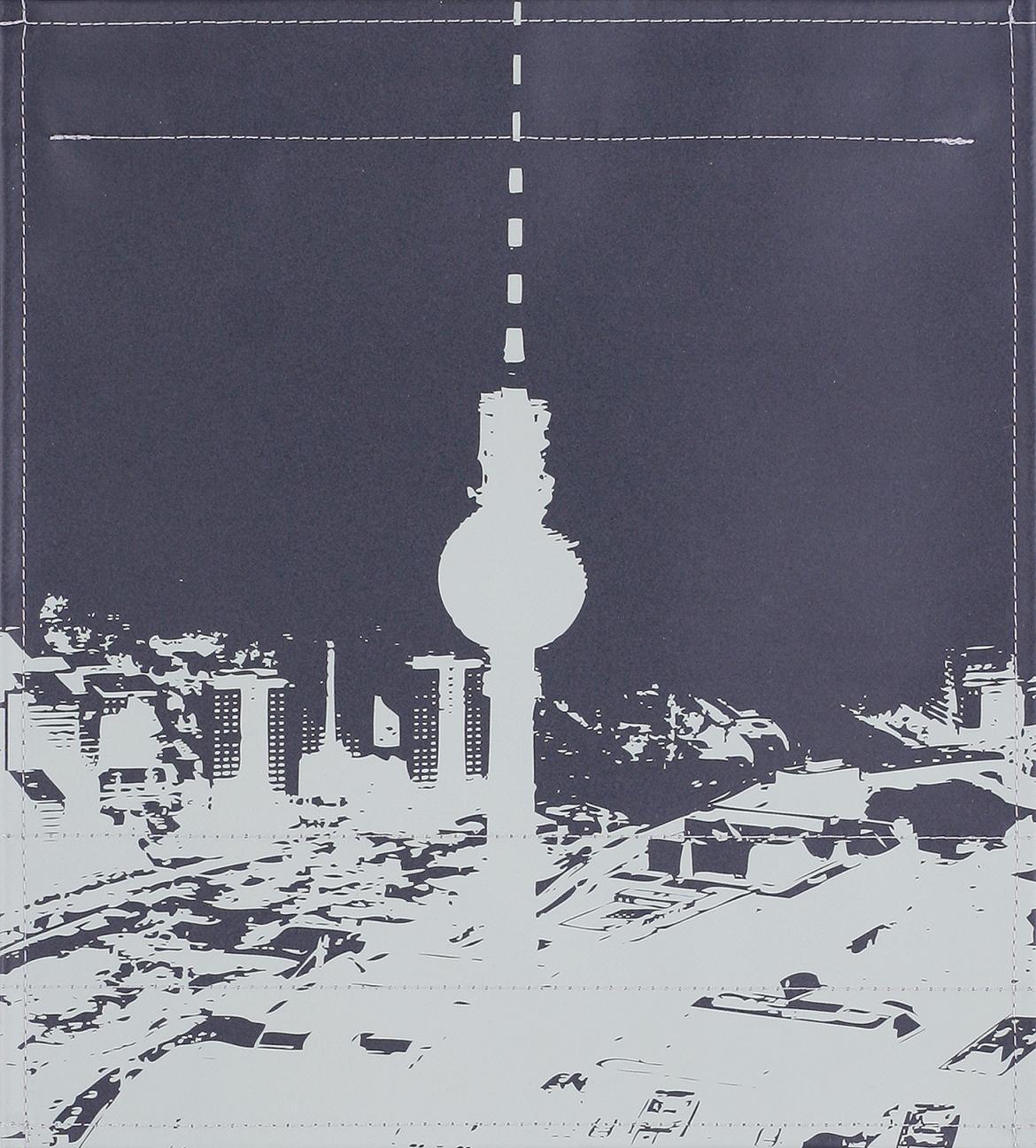 Stadtsilhouette Berlin schwarz/grau (mittel)