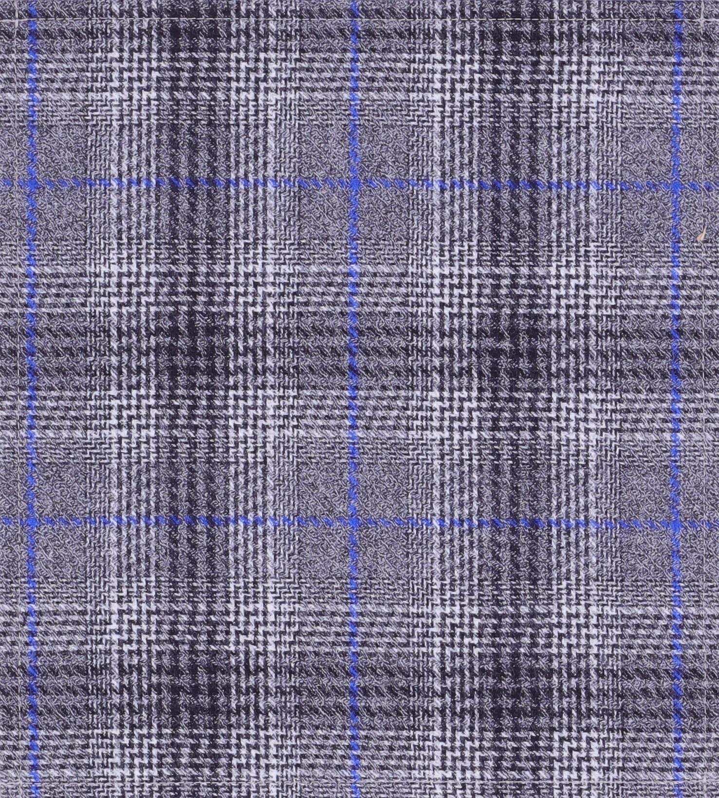 Plaid blue/gray (medium)