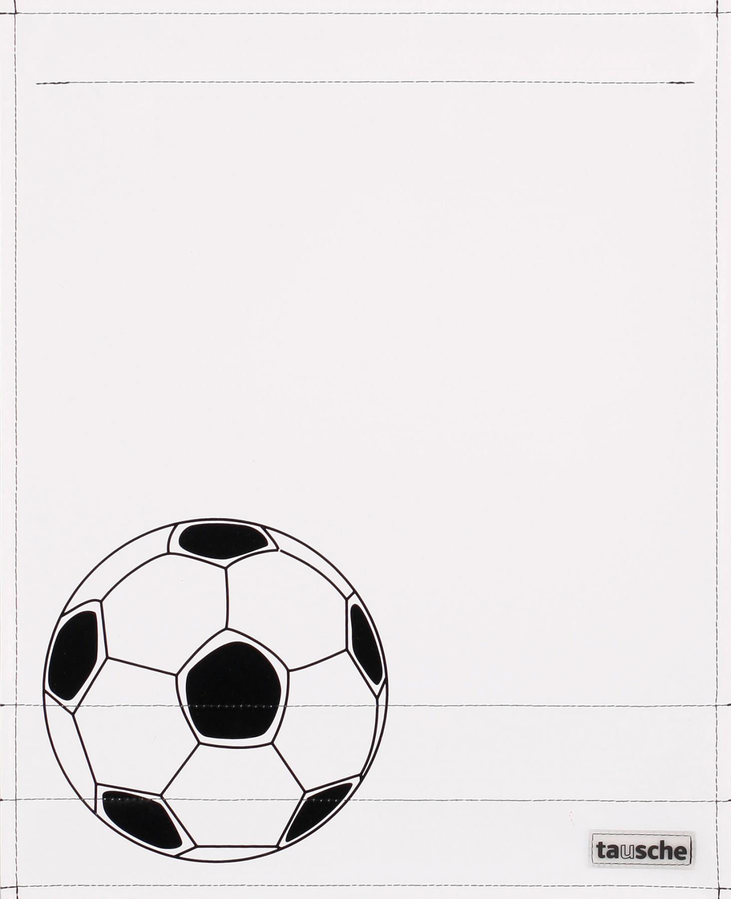 Fußball weiß/schwarz (groß)