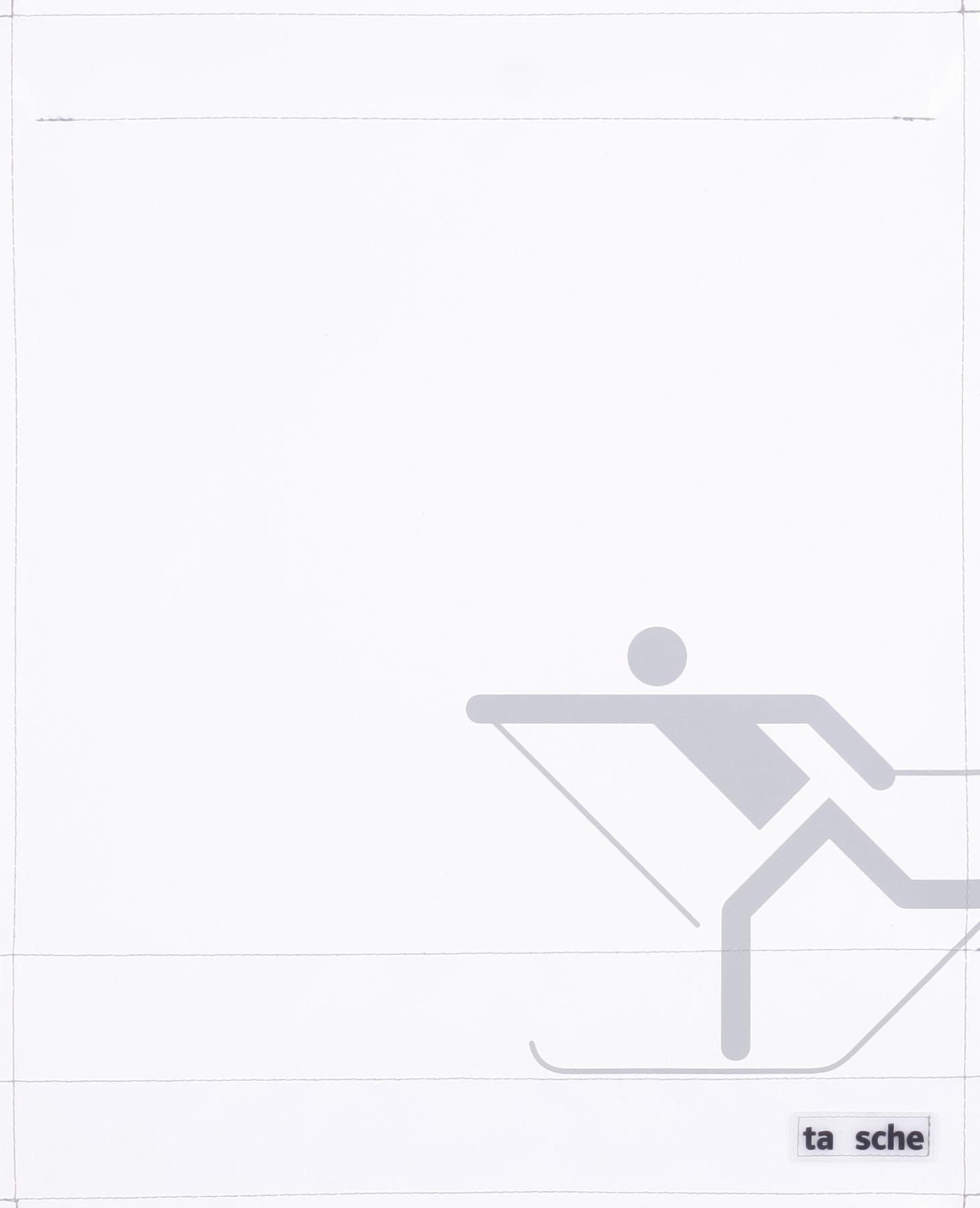 Skifahrer weiß/hellgrau (groß)